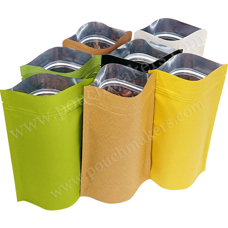 Kraft Paper Stand Up Pouches