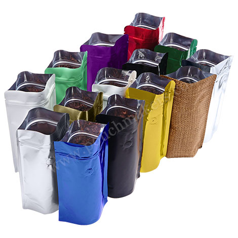 Foil Stand Up Pouches With Valve