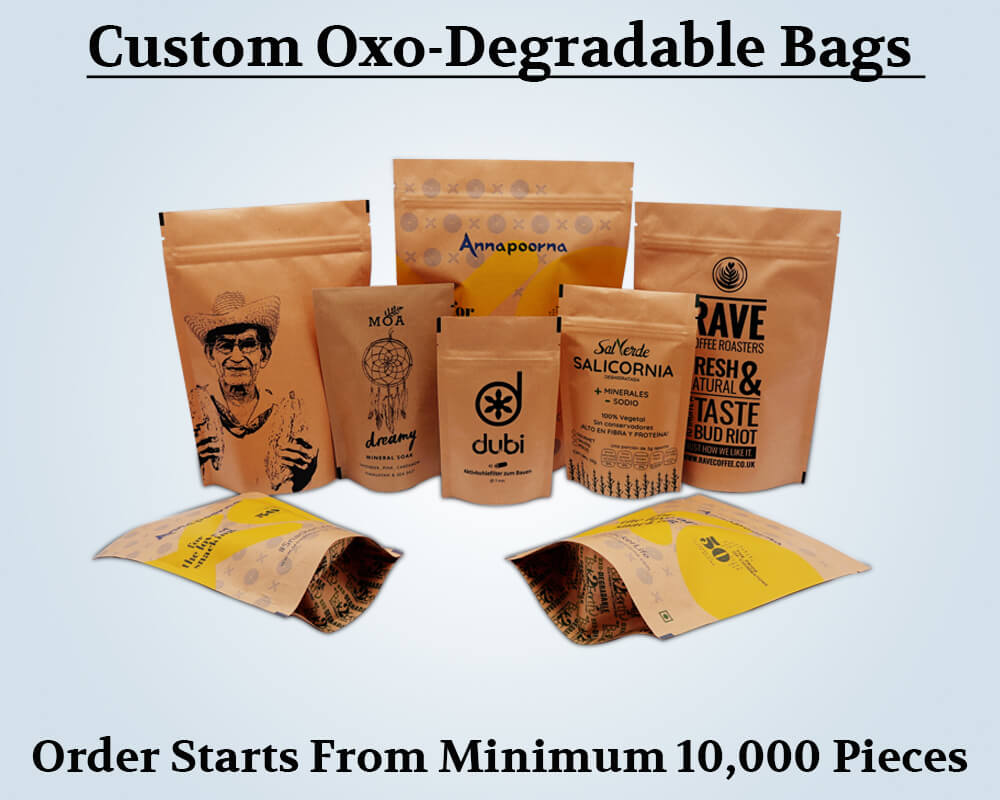 Custom Products Oxo Degradable Bags