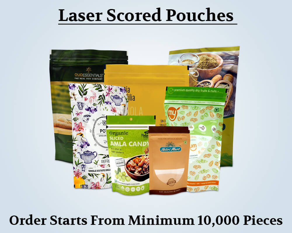 Custom Products Laser Scored Pouches